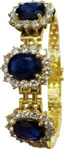 Goldenes Armband mit Edelsteinen
