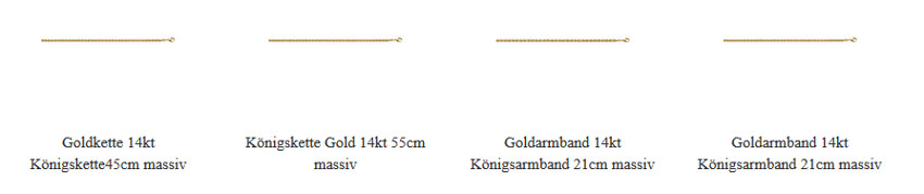Königskette Armband Gold