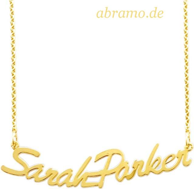 Namenskette Gold 585