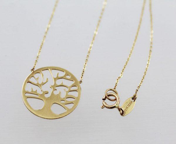 Goldkette – Collier Gelbgold 333/- Lebensbaum