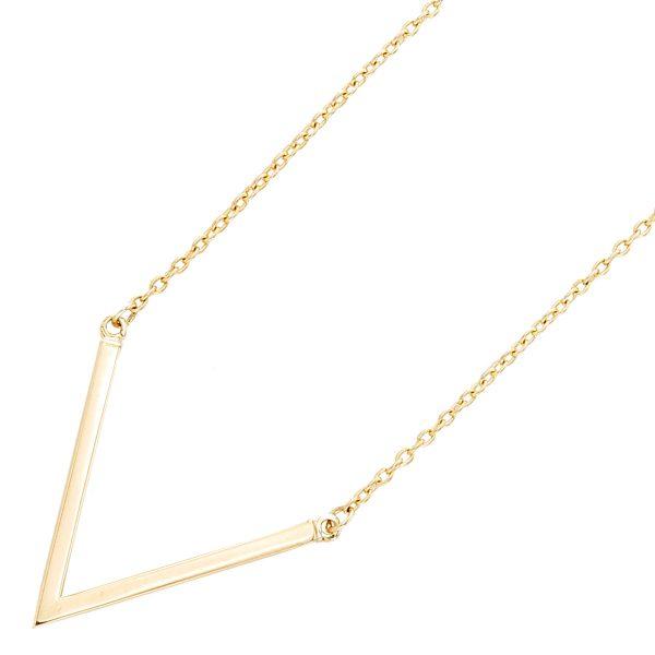 V-Kette – Halskette Gelbgold 333 p...