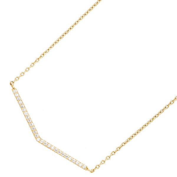 Goldkette mit V-Vorderteil  Ankerkette G...