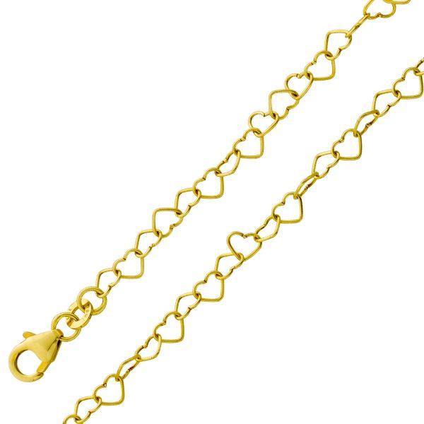 Kette Gelbgold 333 mit herzförmigen Ket...