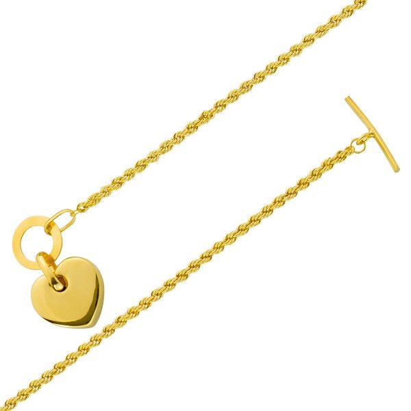 UNO A ERRE Armband Herzarmband Kordelket...