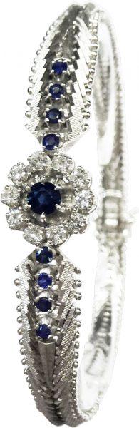 Luxuriöses Armband 19 cm lang aus feins...
