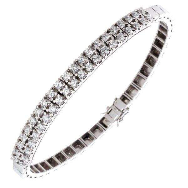 IGI zertifiziertes Diamantarmband 19cm W...