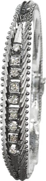 Armband Weißgold 585/- 9 Brillanten 0,3...