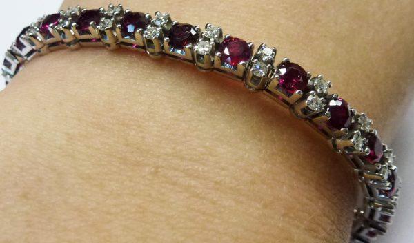 Glamouröses, elegantes Armband 18 cm la...