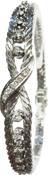 Armband 585er Weißgold 17 Brillanten 0,...