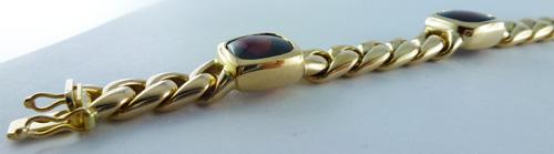 Armband in Gelbgold 585/- mit Granat Ca...