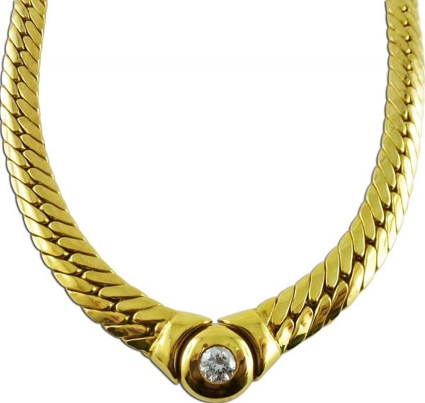 Collier Gelbgold 585/- Brillant 0,50ct W...