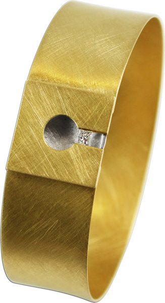 Armreif 750er Gelbgold 950er Platin 1 Br...