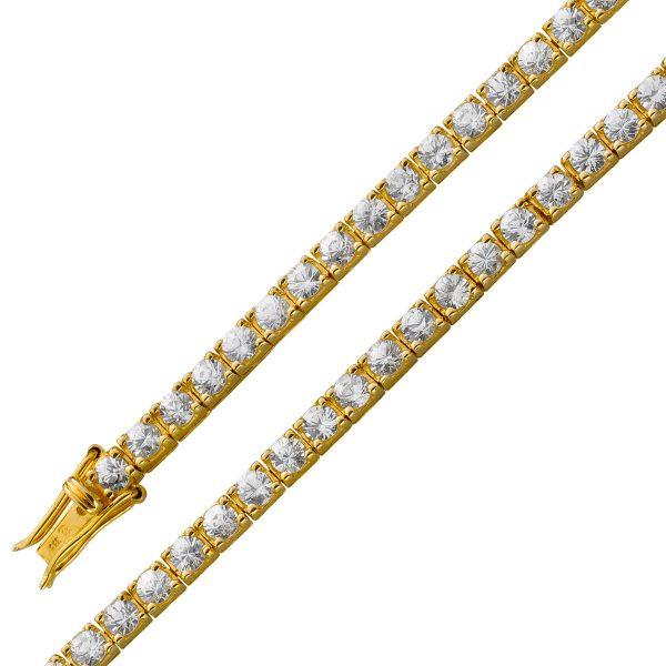 Armband – Zirkoniaarmband Gelbgold...