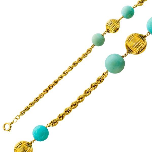 Goldkette Gelbgold 585 Kordelkette Türk...