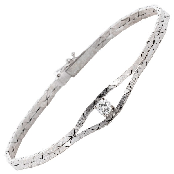 Edelsteinarmband Diamant Brillantschliff...