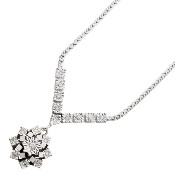 Collier – Diamantcollier Antik Wei...