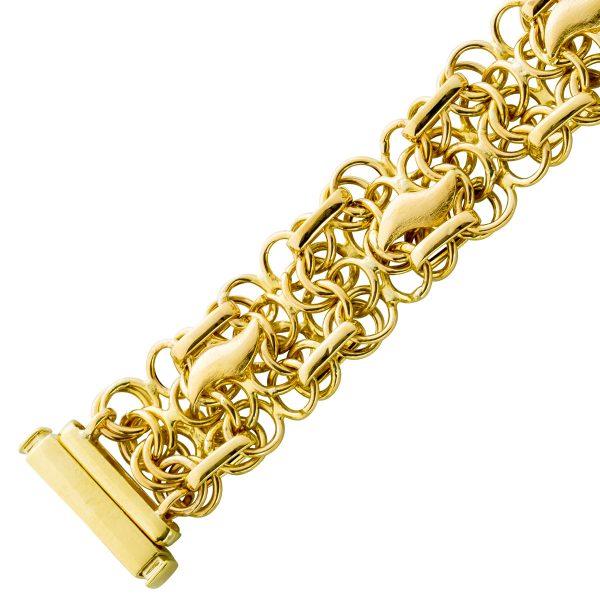 Goldarmband Gelbgold 585 beweglich Druck...