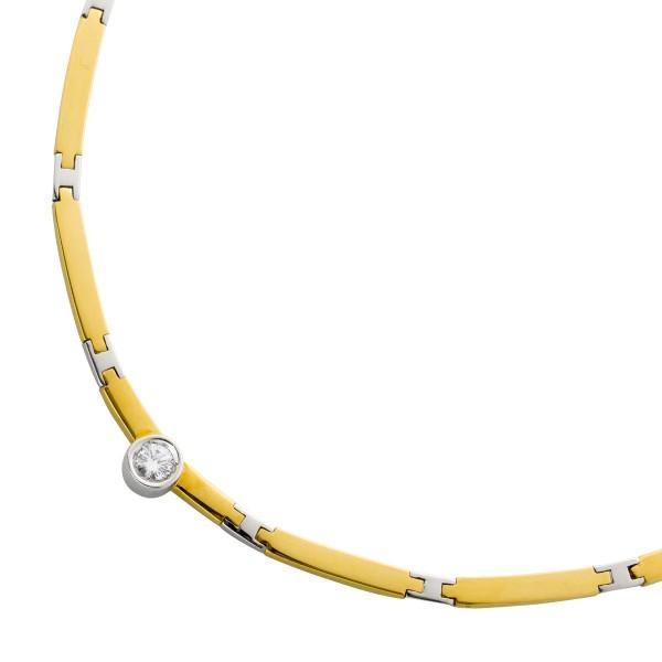 Brillantcollier Gelbgold Weißgold 750 B...