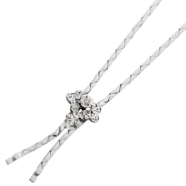 Diamant Collier Antik 50er Jahre Weissgo...