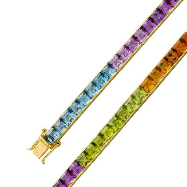Edelsteinarmband Gelbgold 585 Blautopas ...