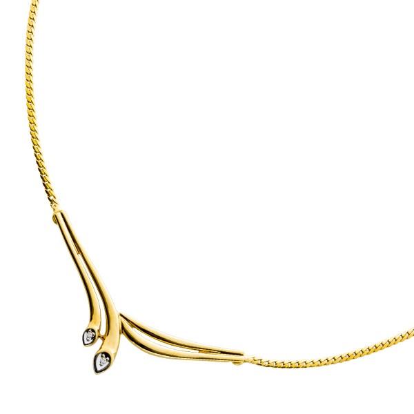 Collier Vorderteilcollier Gelbgold 585 D...