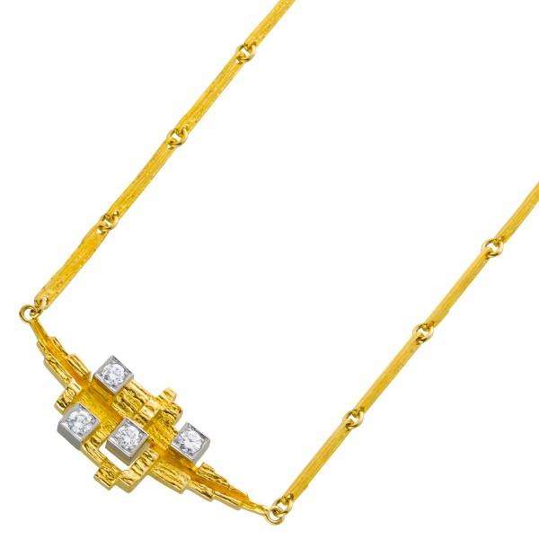 Collier Lapponia original Gelbgold 750 B...