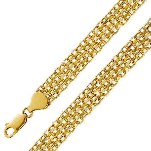 Garibaldi Armband Gold 585 Goldschmuck 8...