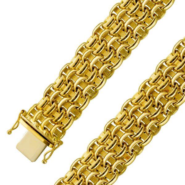 Geflochtenes Goldarmband Gelbgold 750 po...