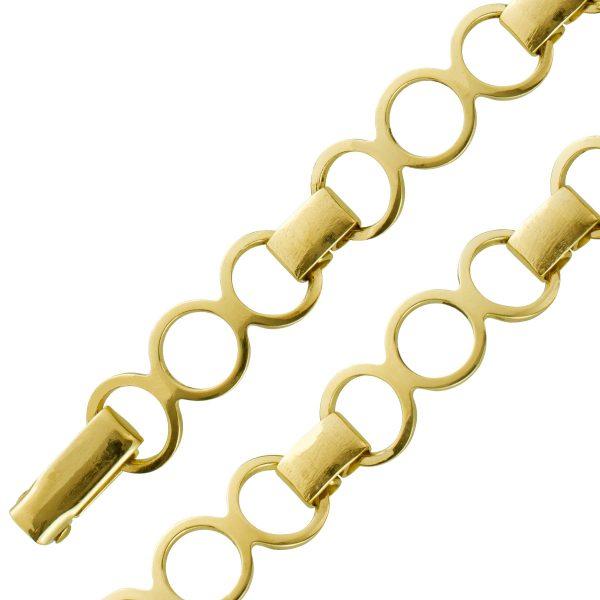 Antikes Goldarmband Gelb Gold 333 beweglich um 1950 Juwelenmanufaktur Andreas Daub 18cm